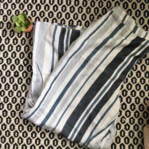 Forever 21 Wide Leg Striped Pants Sz XL